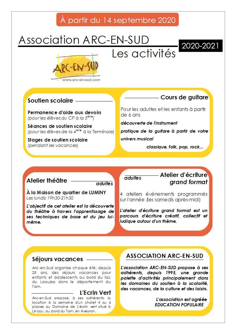 Les activités 2020-2021