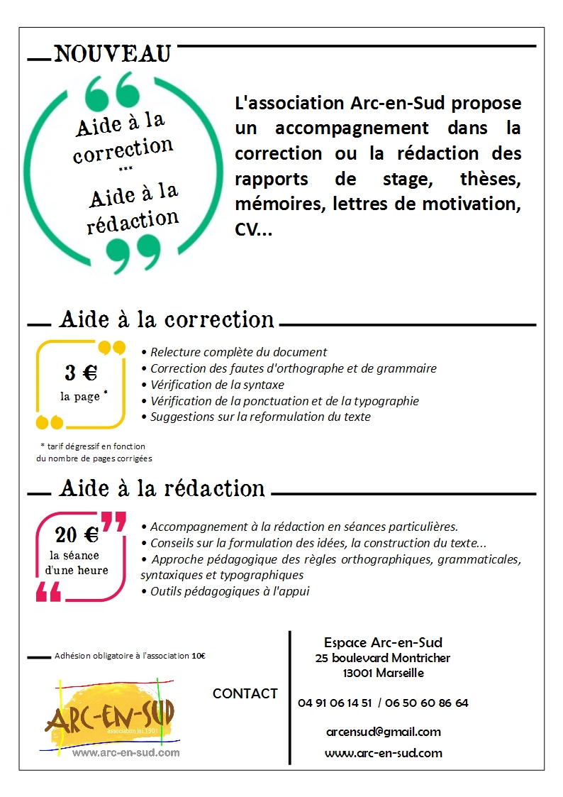 Affiche aide a la correction redaction