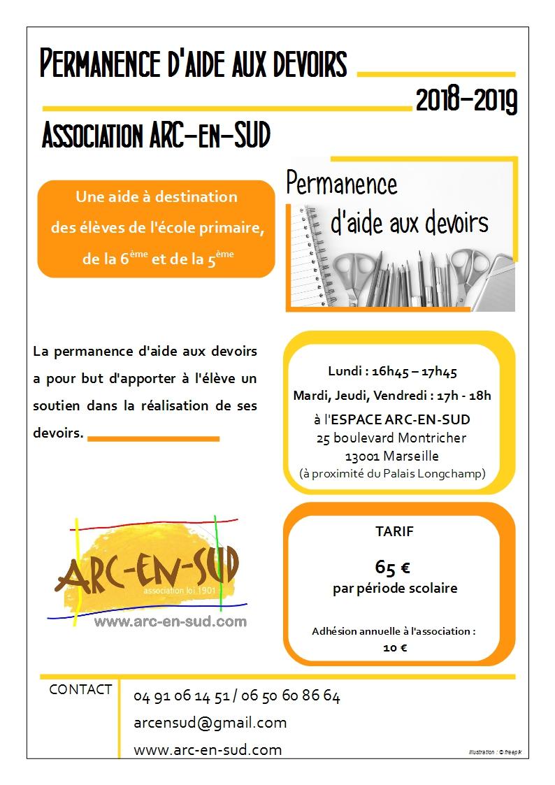 Affiche permanence Aide aux devoirs 2018-2019