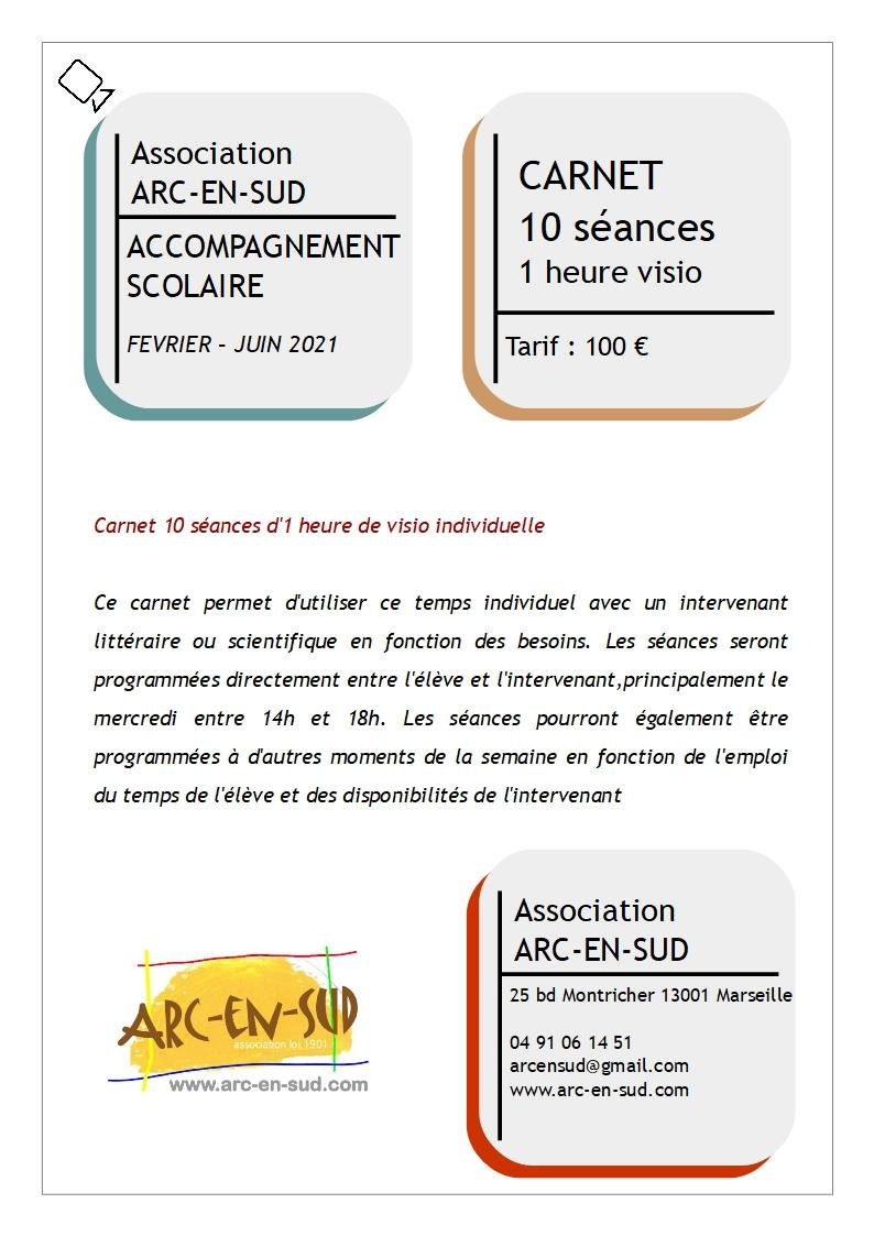 Affiche carnet accompagnement scolaire