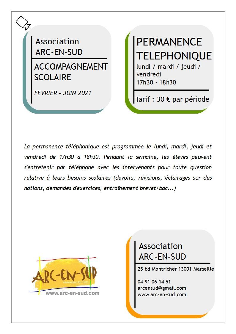 Affiche permanence telephonique