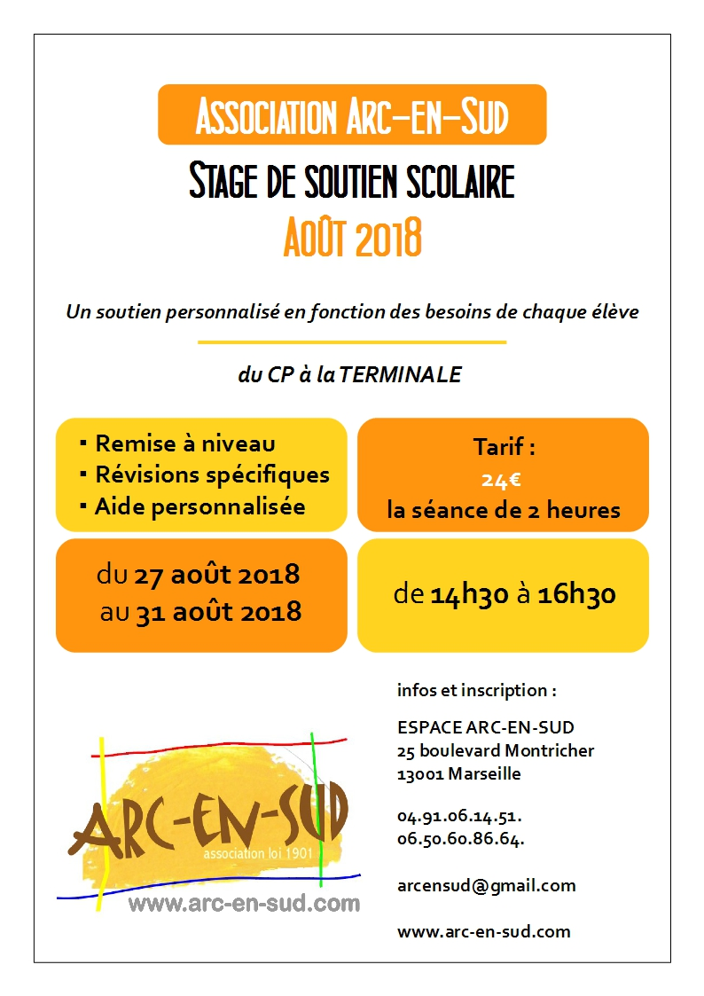Affiche stage aout 2018