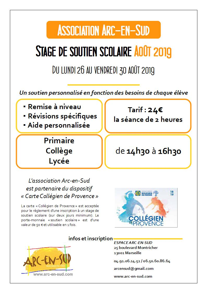 Affiche stage aout 2019
