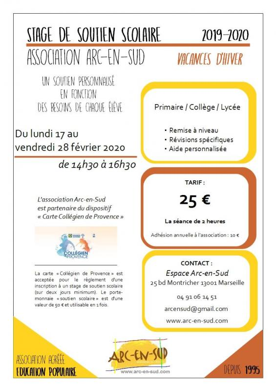 Affiche stage hiver 2020