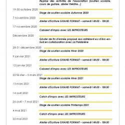 Espace Arc-en-Sud : agenda