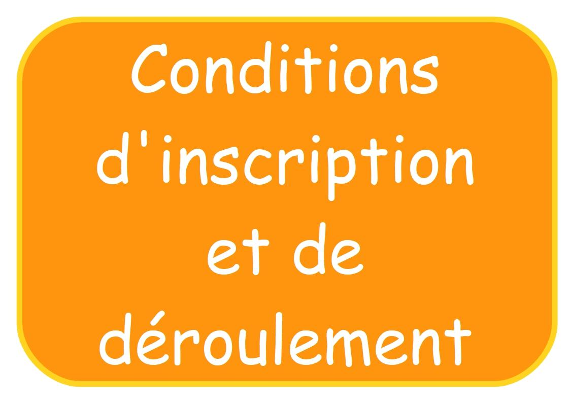 Conditions d inscription affichette